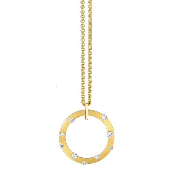 Cloud Nine Yellow Gold Small Diamond Necklace