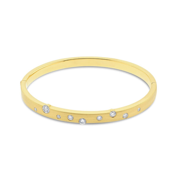 Cloud Nine Yellow Gold Diamond Bangle