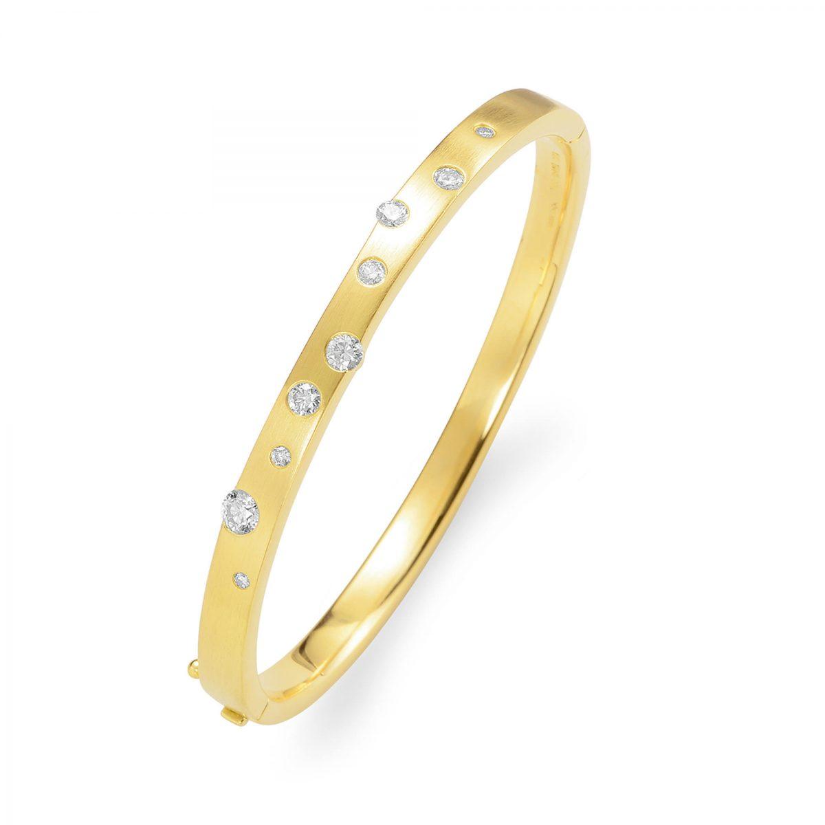 Cloud Nine Yellow Gold Diamond Bangle