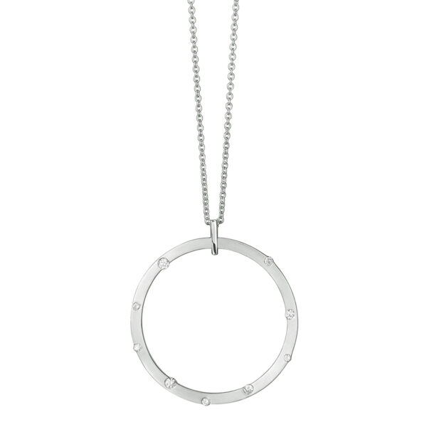 Cloud Nine Silver Large Diamond Necklace
