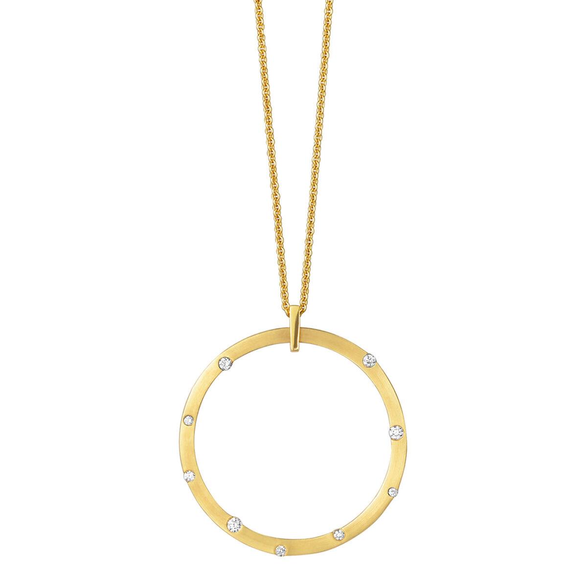 Cloud Nine Yellow Gold Large Diamond Necklace