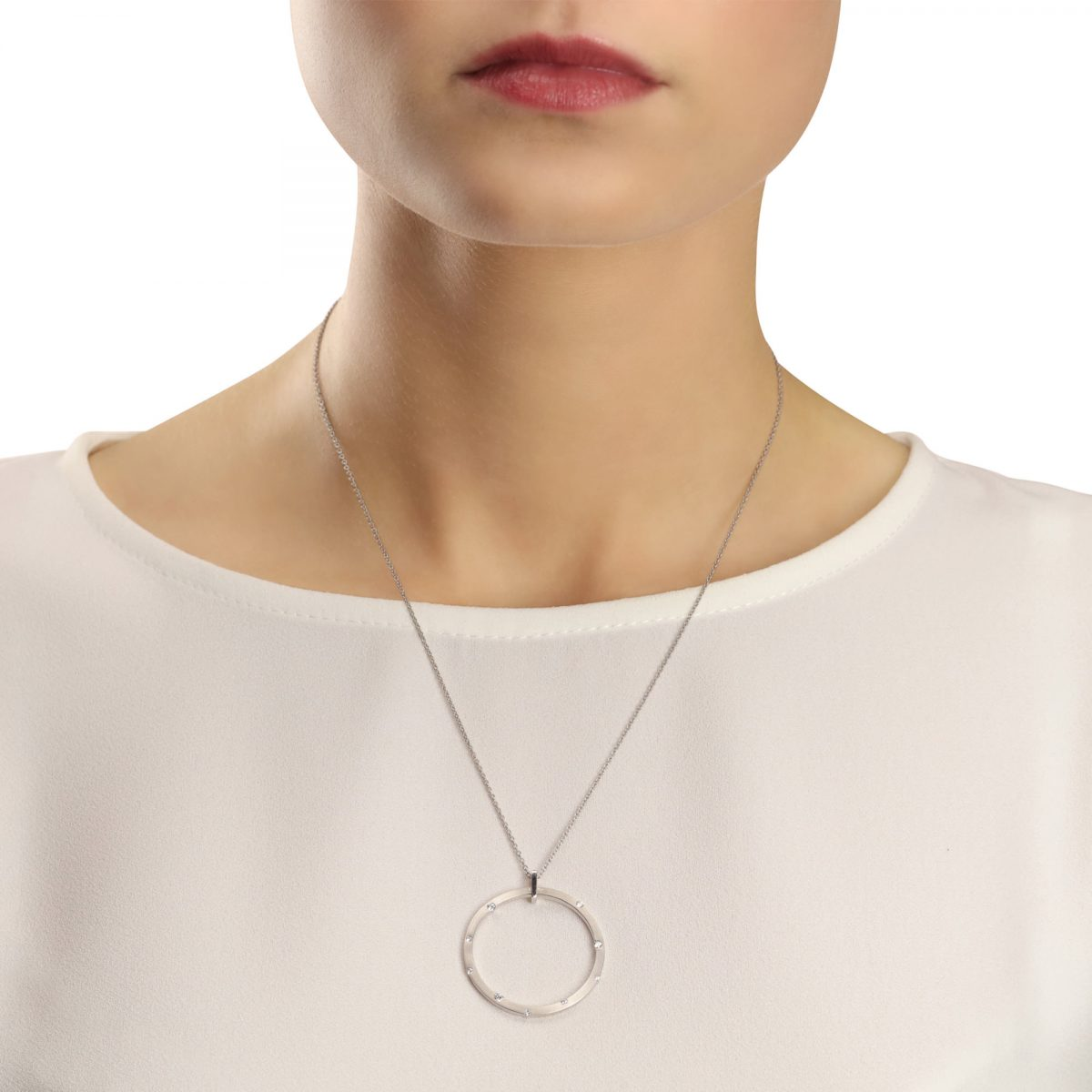Cloud Nine White Gold Large Diamond Necklace