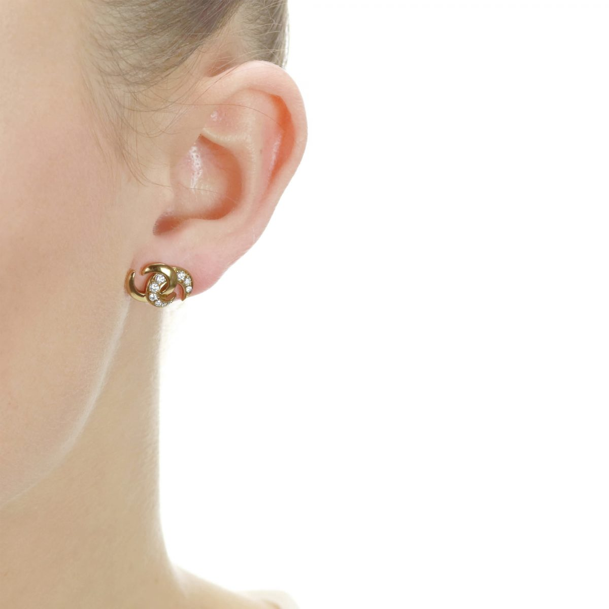 Hooked on You White Gold Diamond Earrings