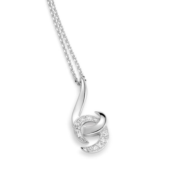 Hooked on You White Gold Diamond Necklace