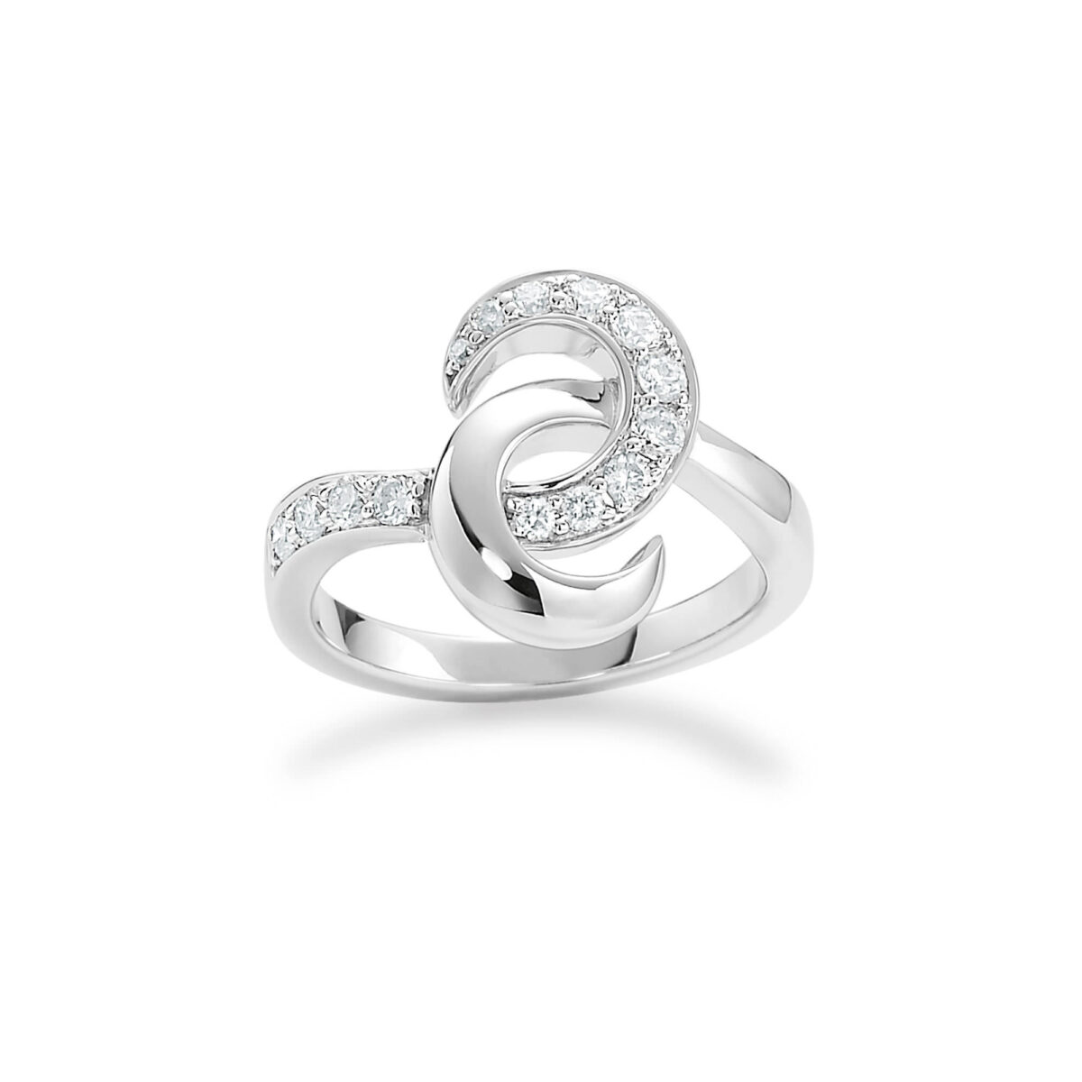 Hooked on You White Gold Diamond Ring