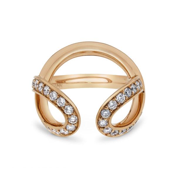Infinity Rose Gold Diamond Ring