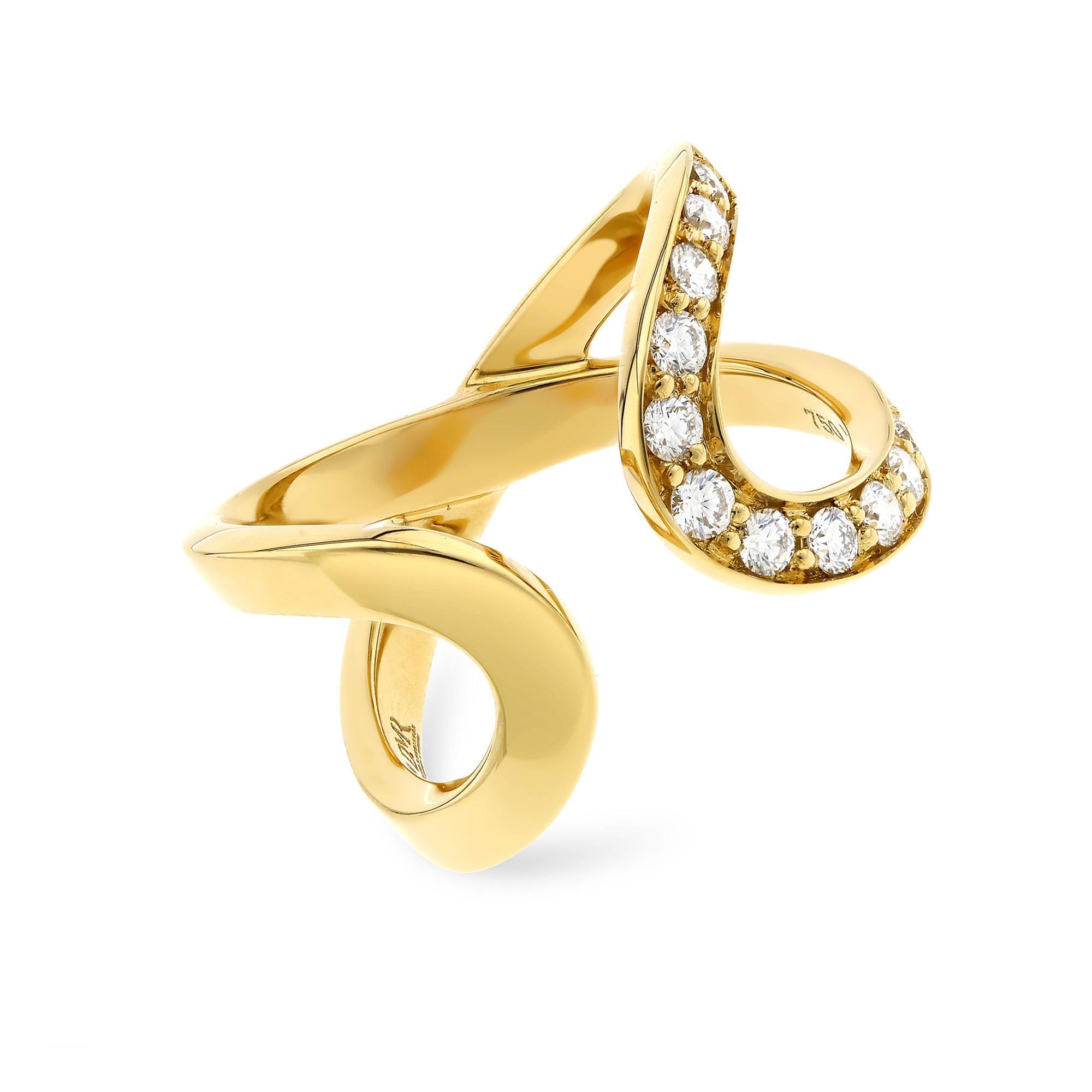 Infinity Half Set Yellow Gold Diamond Ring
