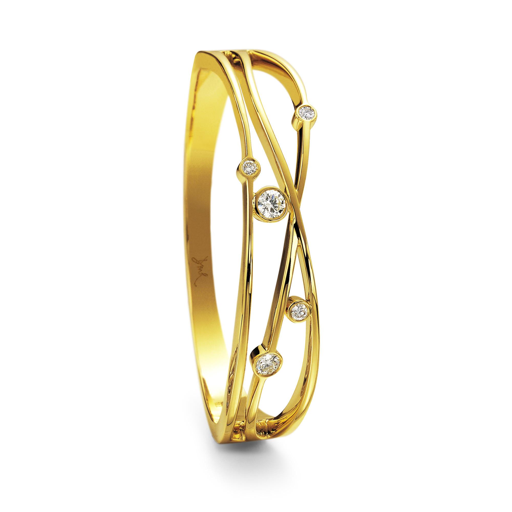 Lunar Yellow Gold Diamond Bangle