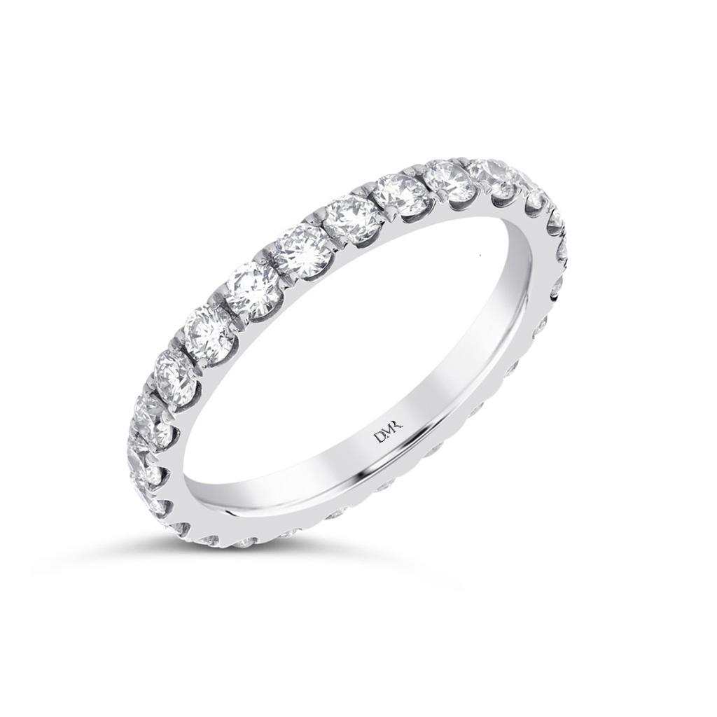 Platinum Full Diamond Set Eternity Ring