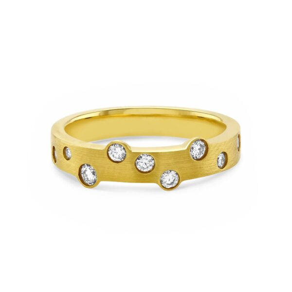 Cloud Nine Yellow Gold Slim Diamond Ring