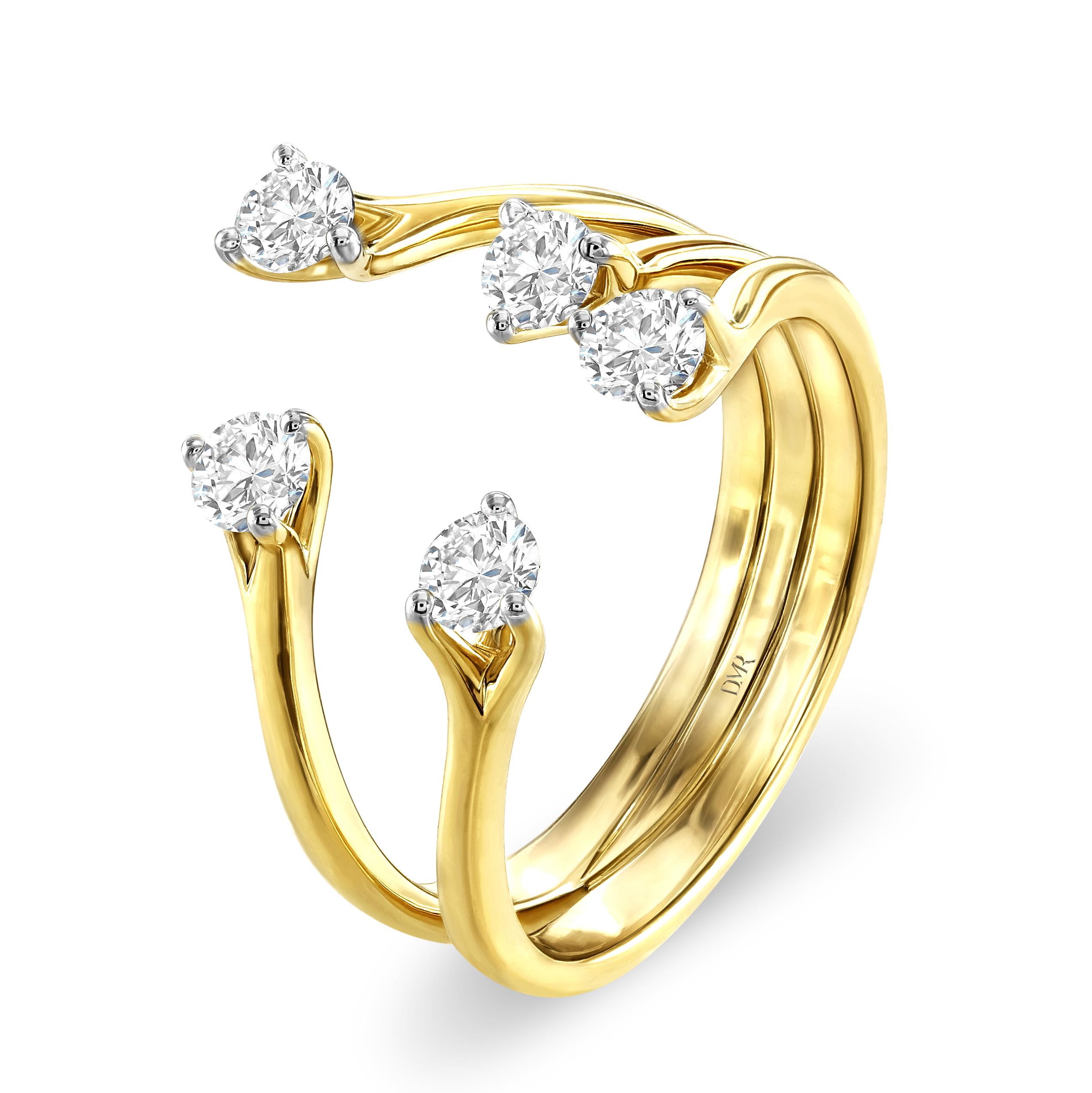 Embrace Yellow Gold Diamond Ring