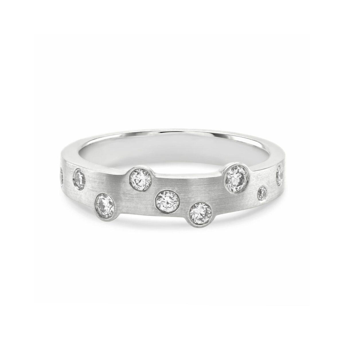 Cloud Nine White Gold Slim Diamond Ring