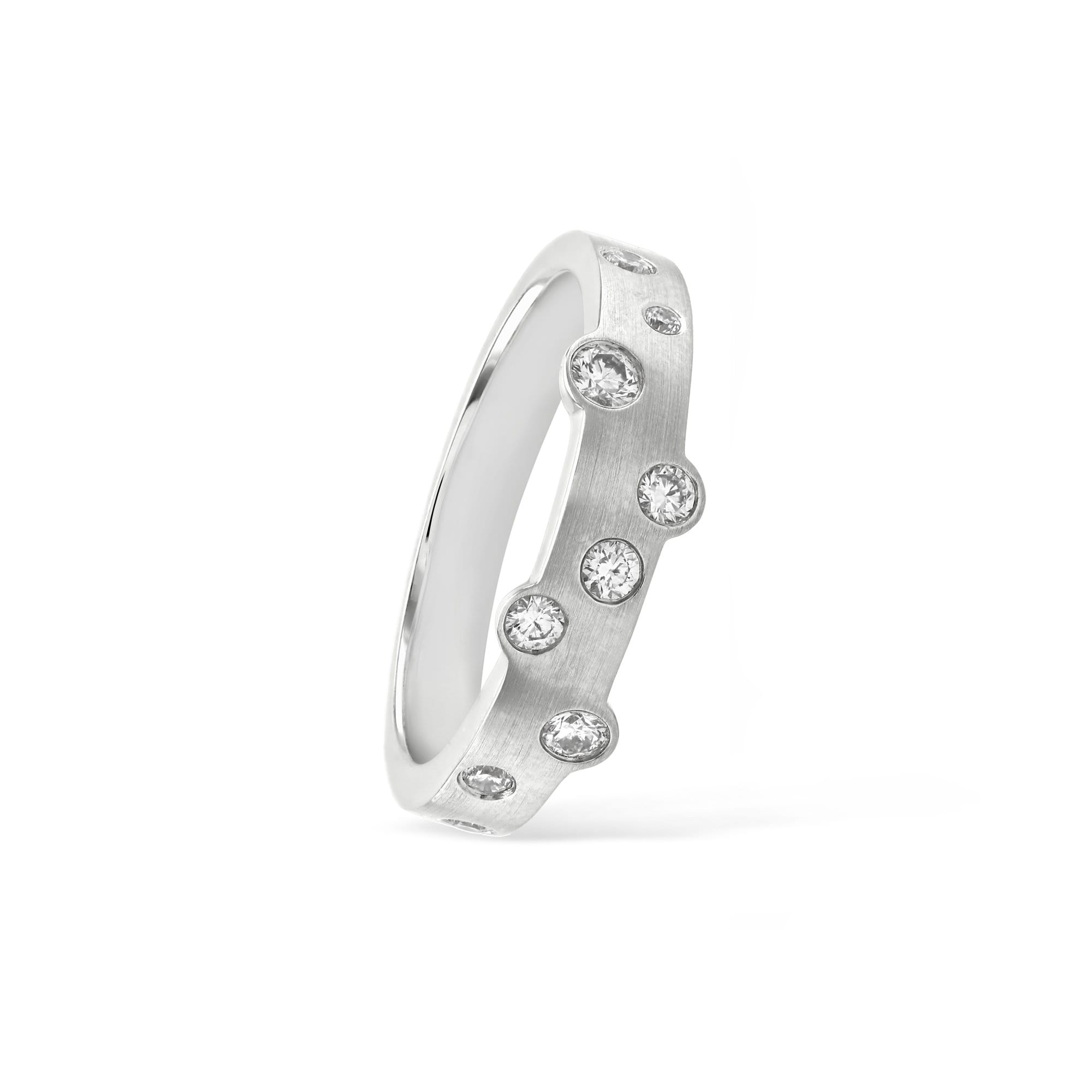 Cloud Nine White Gold Slim Diamond Ring