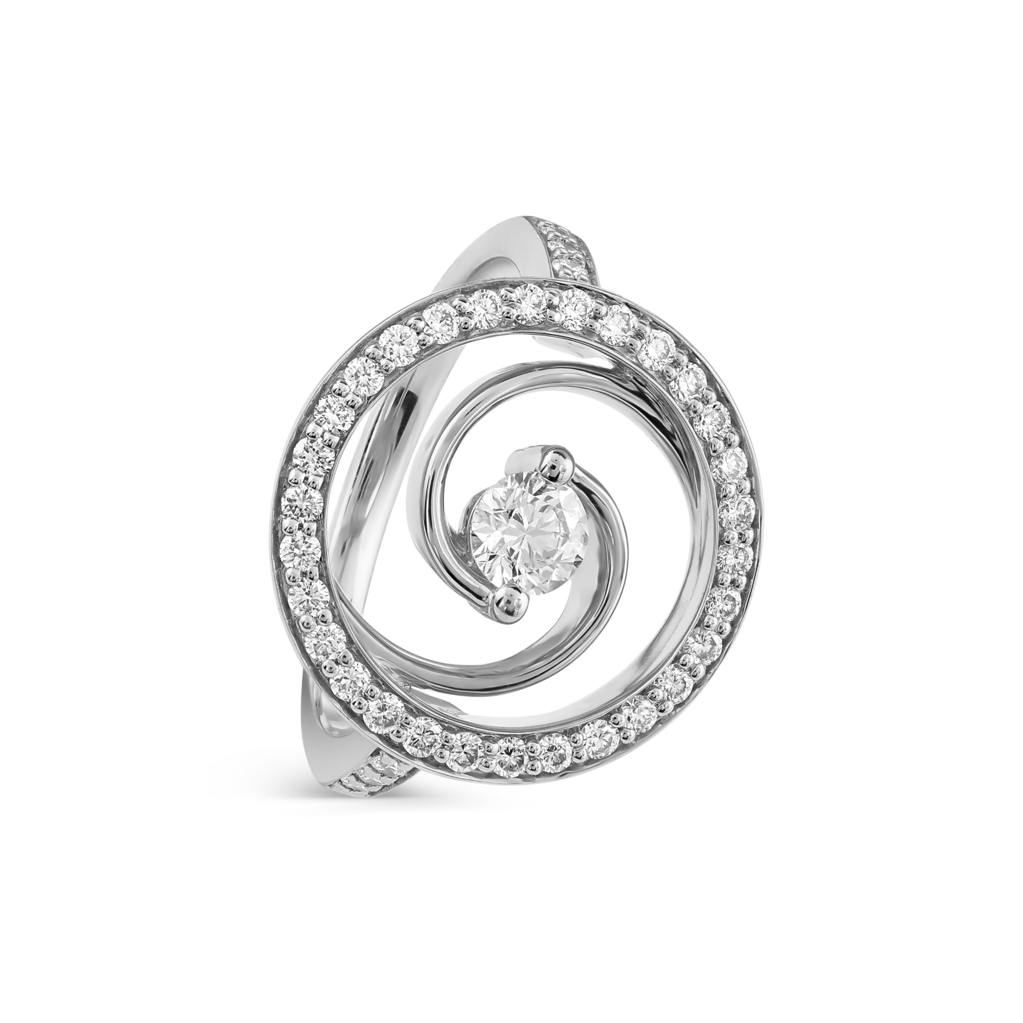 Whirlwind White Gold Diamond Ring