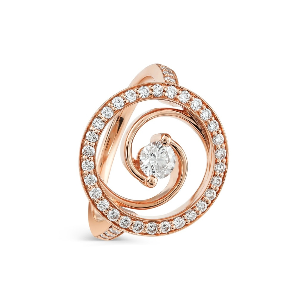 Whirlwind Rose Gold Diamond Ring