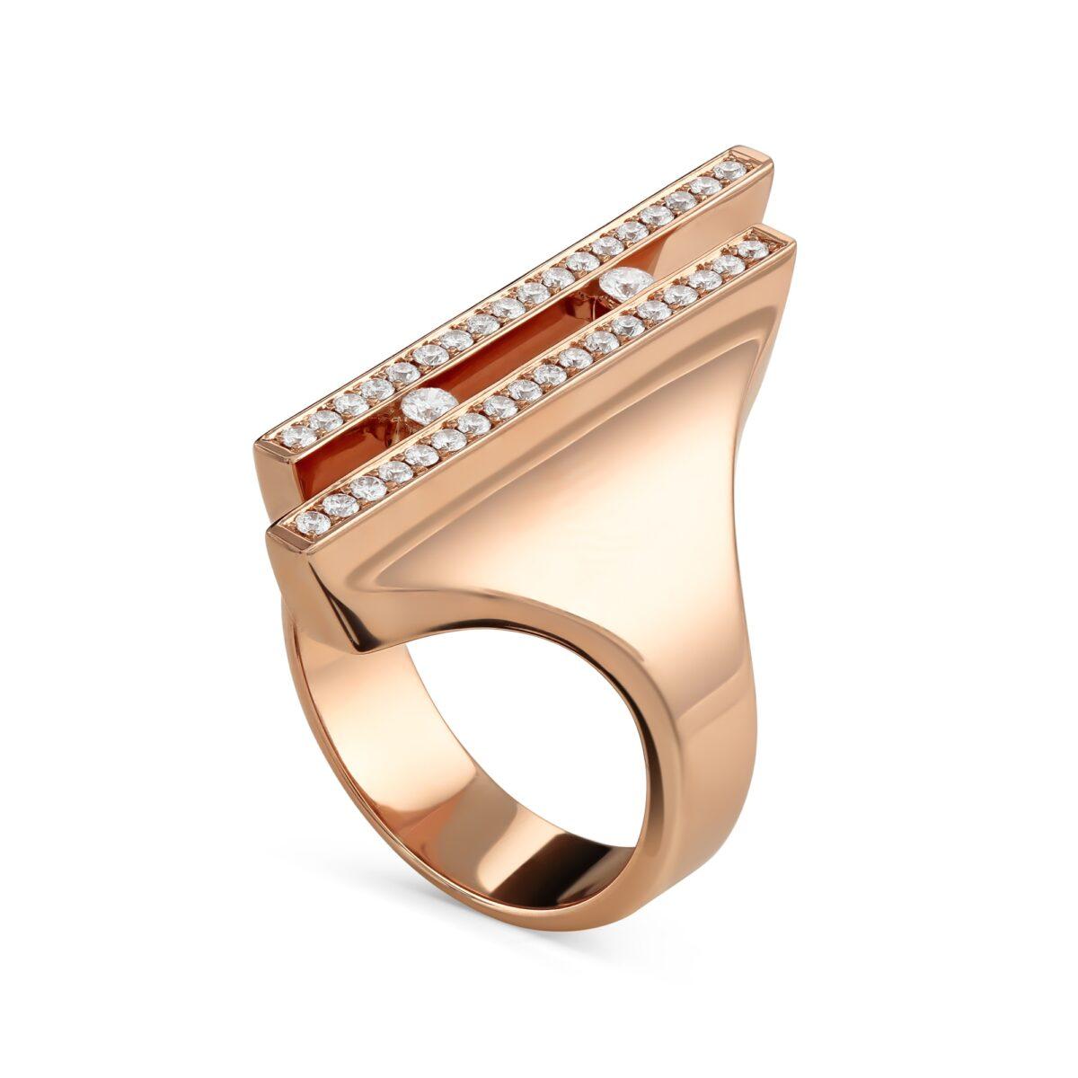 Love Lines Rose Gold Diamond Ring