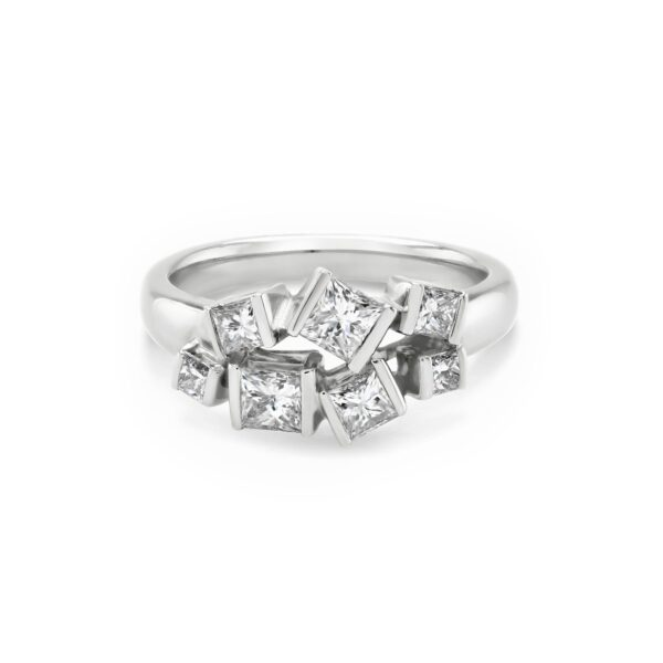 Hopscotch White Gold Diamond Ring