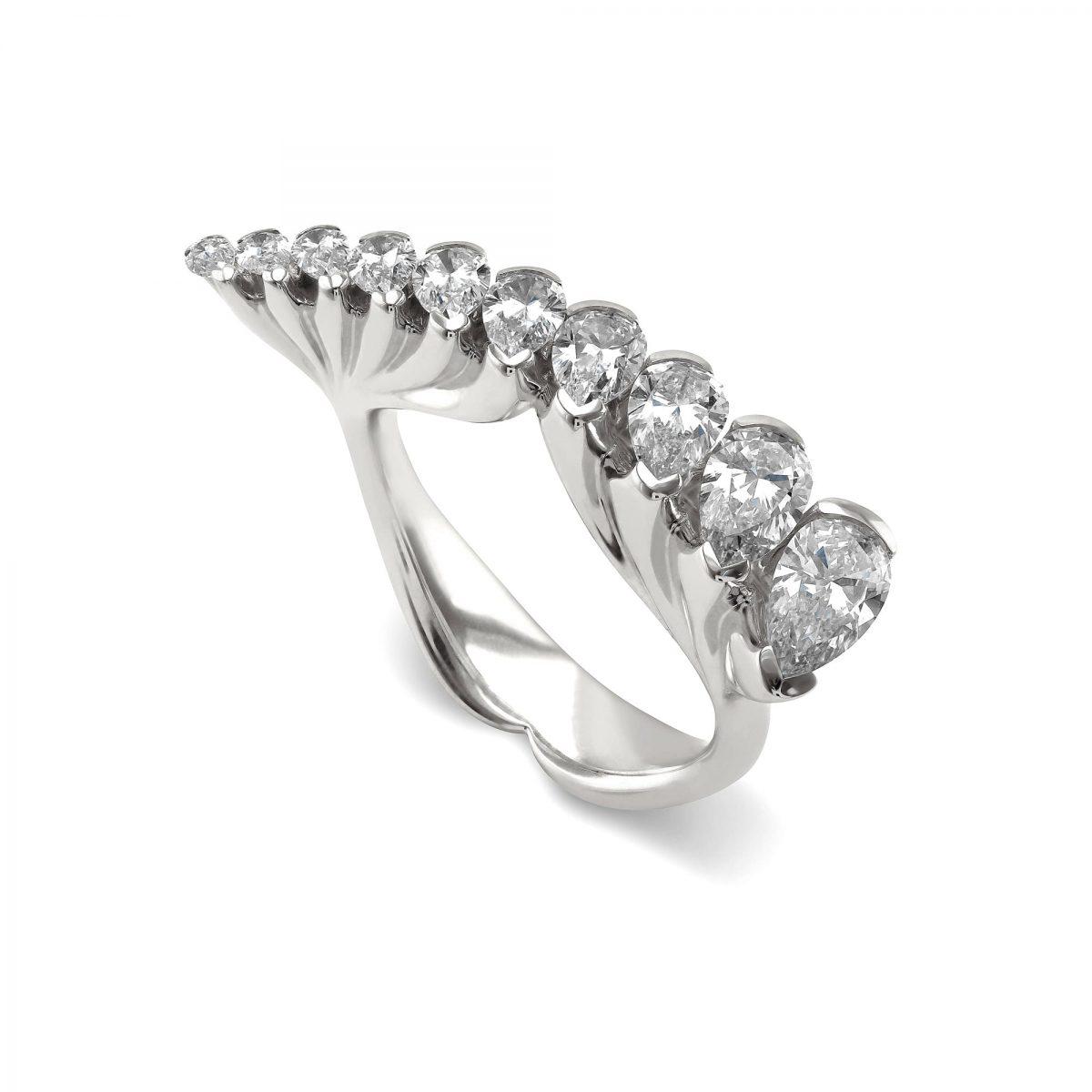 Eclipse White Gold Diamond Ring