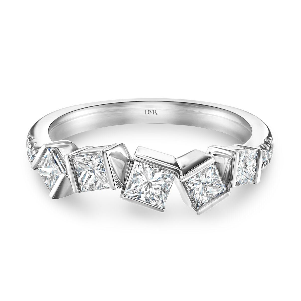 Hopscotch White Gold Diamond Ring
