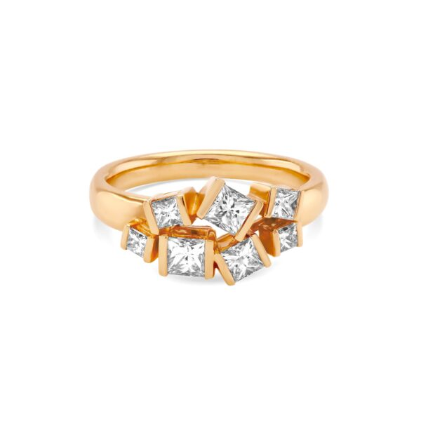 Hopscotch Rose Gold Diamond Ring