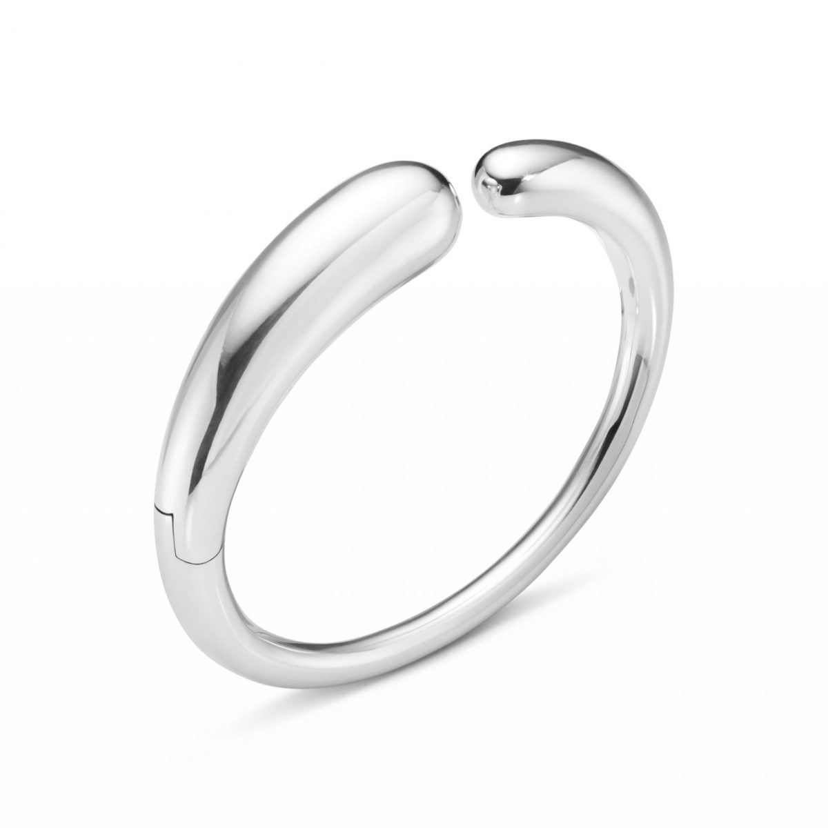 Mercy Sterling Silver Hinged Bangle