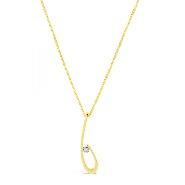 You're the One Yellow Gold Diamond Necklace