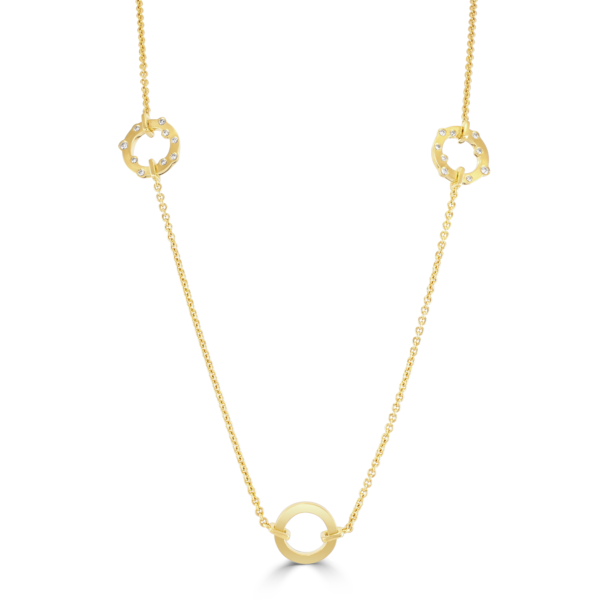 Cloud Nine Yellow Gold Diamond Sautoir Necklace