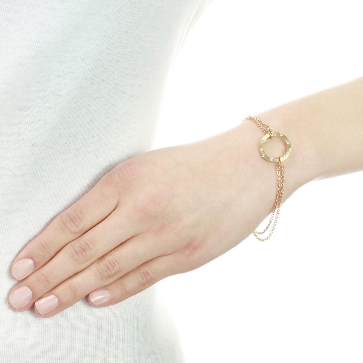 Cloud Nine Yellow Gold Diamond Bracelet
