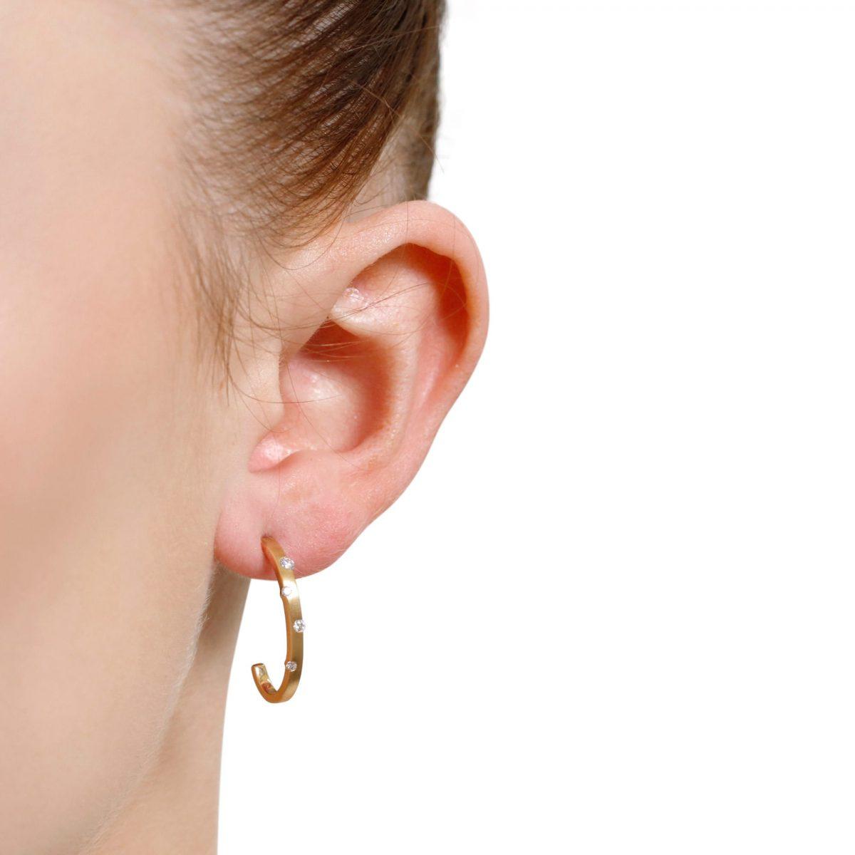 Cloud Nine Yellow Gold Diamond Drop Earrings
