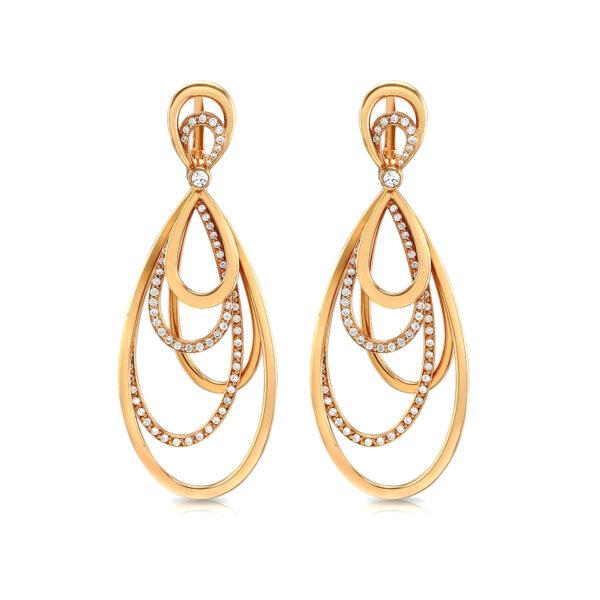 Rivera Rose Gold Diamond Earrings