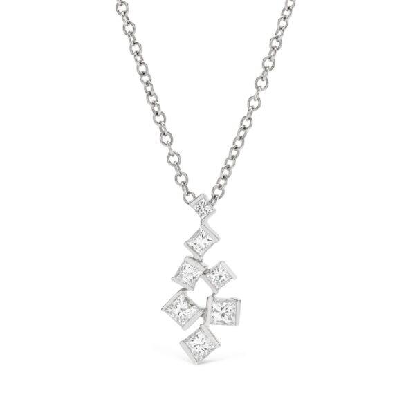 Hopscotch White Gold Small Diamond Pendant