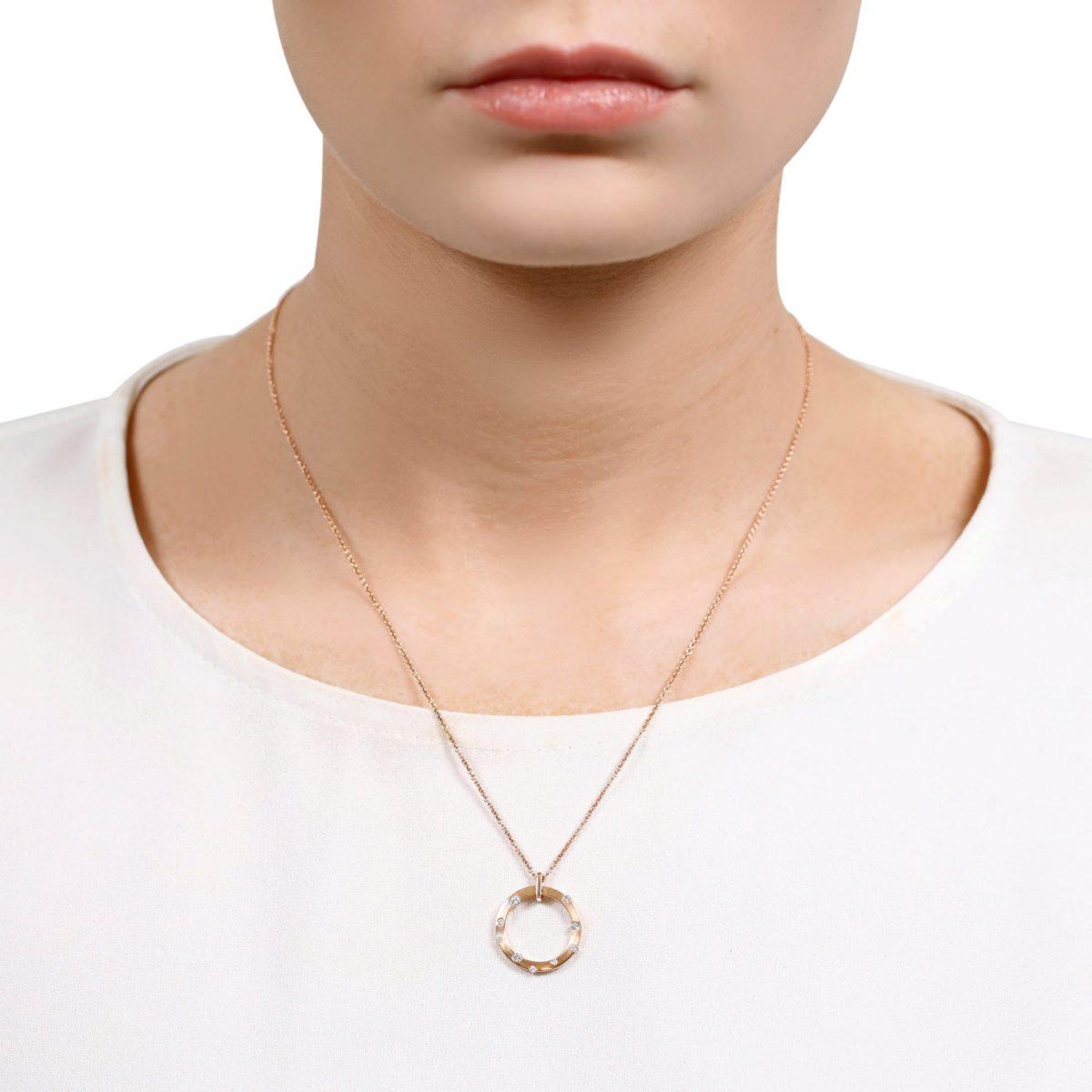 Cloud Nine Rose Gold Small Diamond Necklace