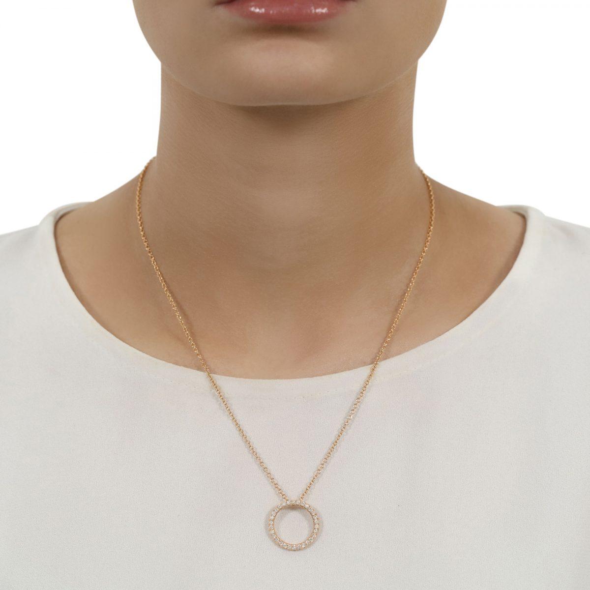 Amour Rose Gold Diamond Pendant