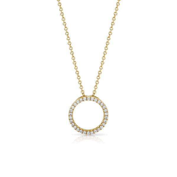 Amour Yellow Gold Diamond Pendant