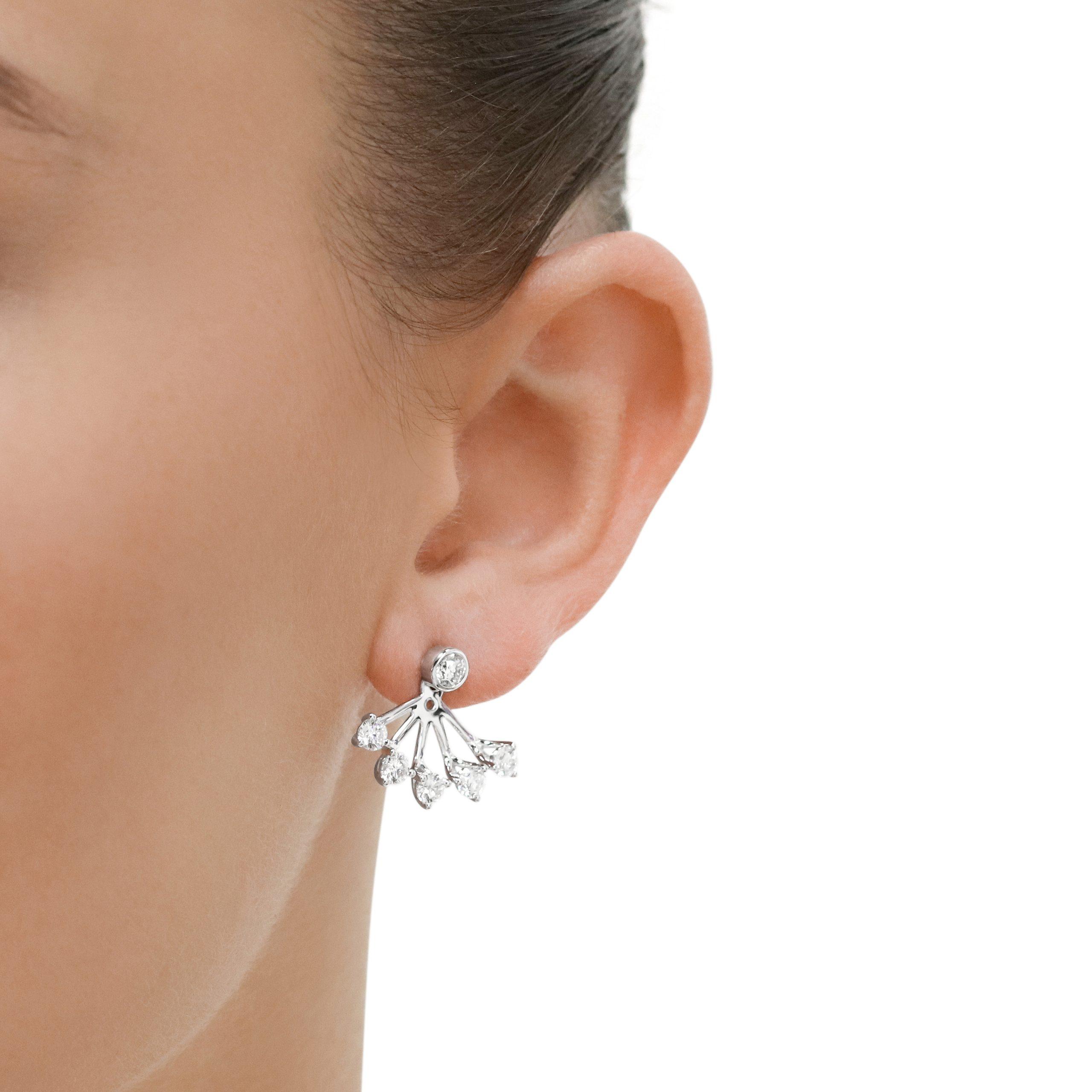 Embrace White Gold Diamond Lobe Hugger Earrings