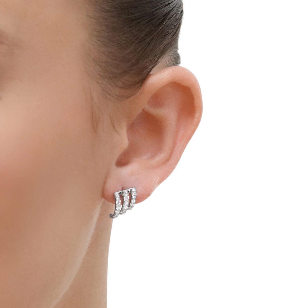 White Gold Diamond Stud Earrings