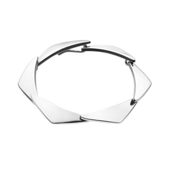 Peak 7 Link Sterling Silver Bracelet