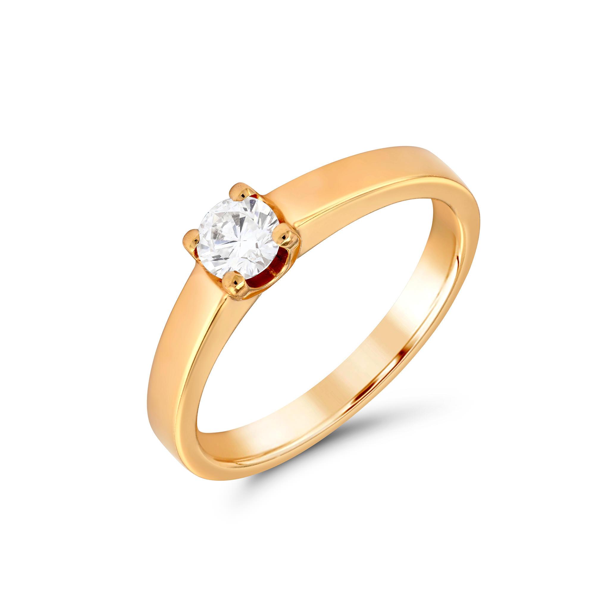 Round Brilliant Cut Rose Gold Diamond Ring