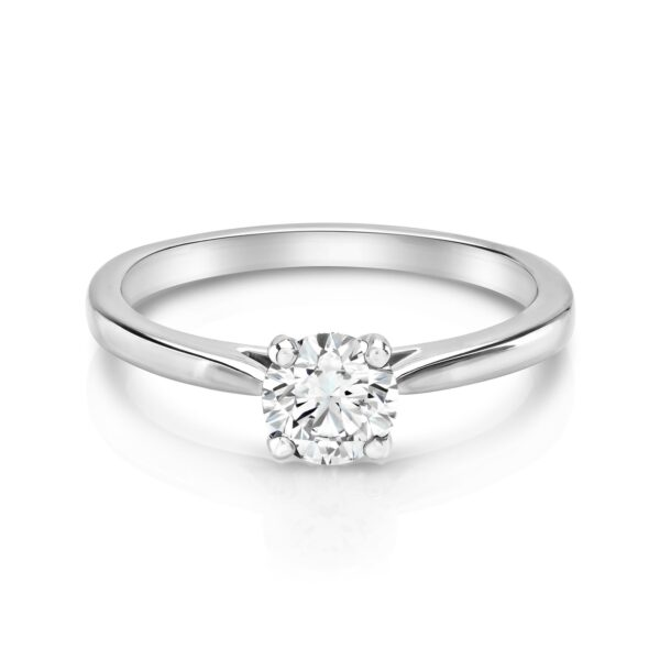 Round Brilliant Cut Platinum Diamond Ring