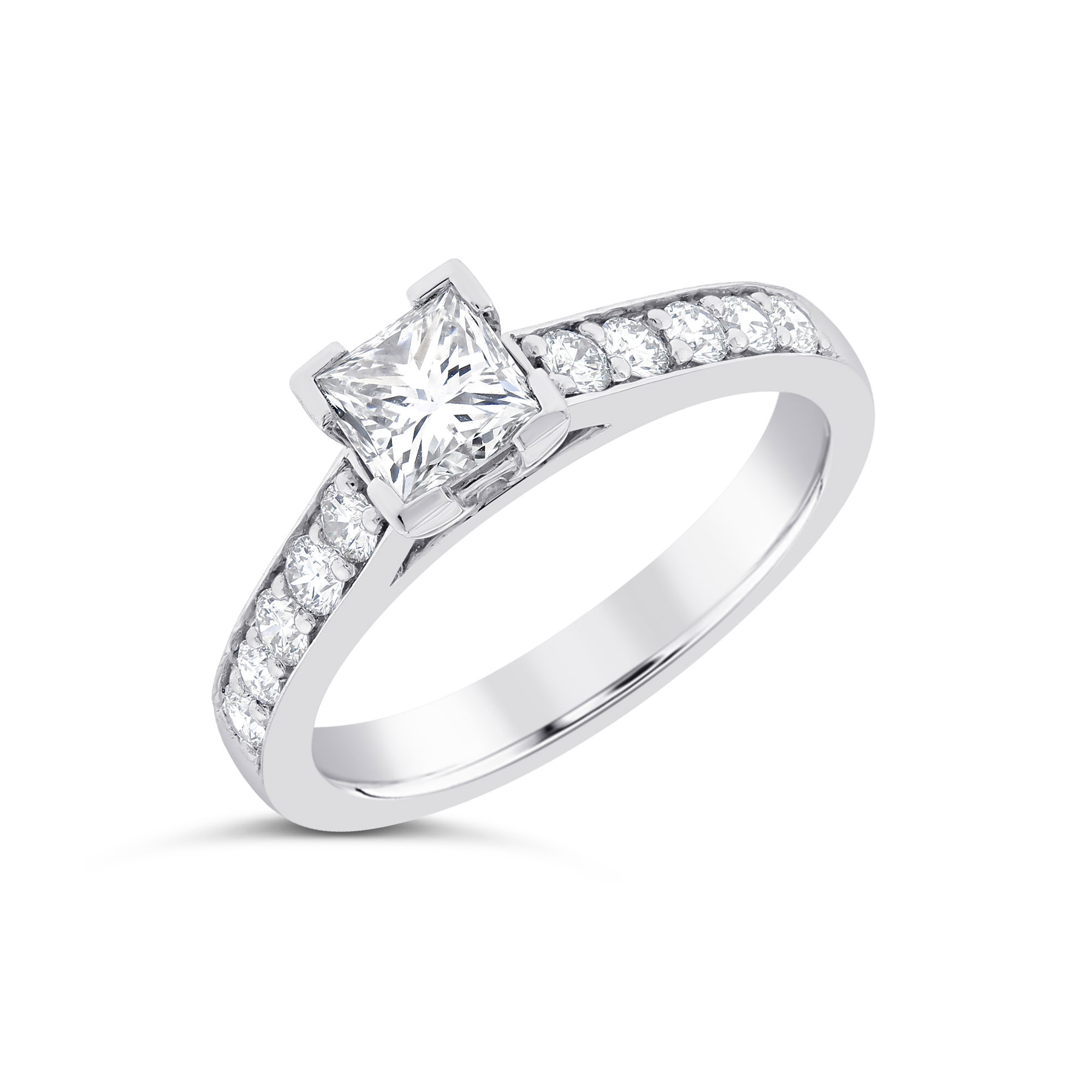 Princess Cut Platinum Diamond Ring