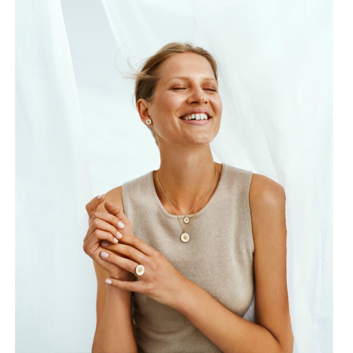 Daisy Sterling Silver & Diamond Earrings