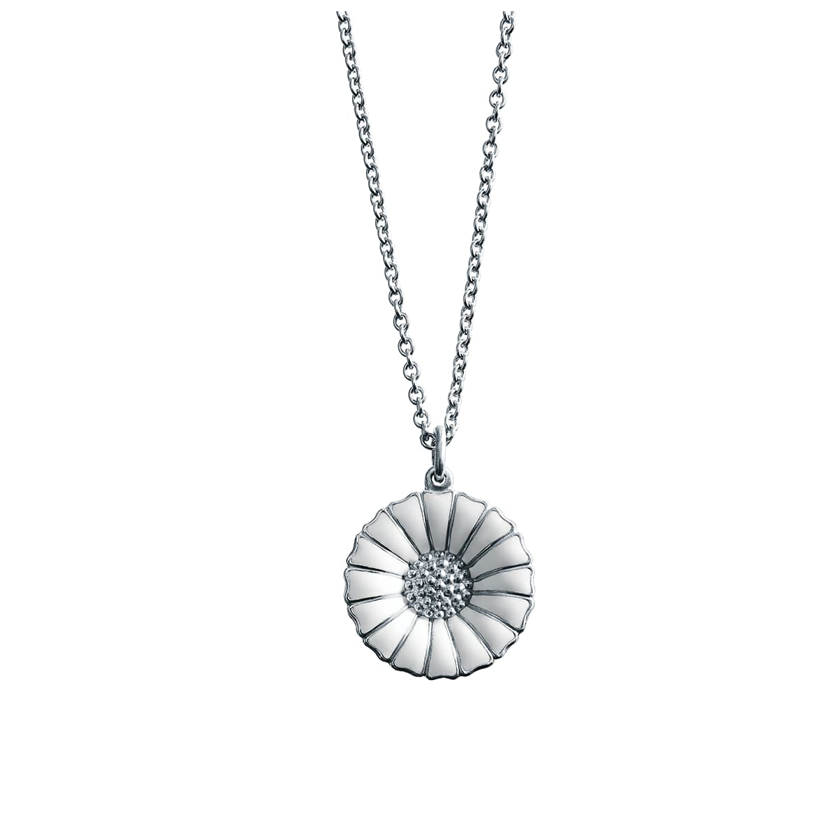 Daisy Sterling Silver & Diamond Pendant