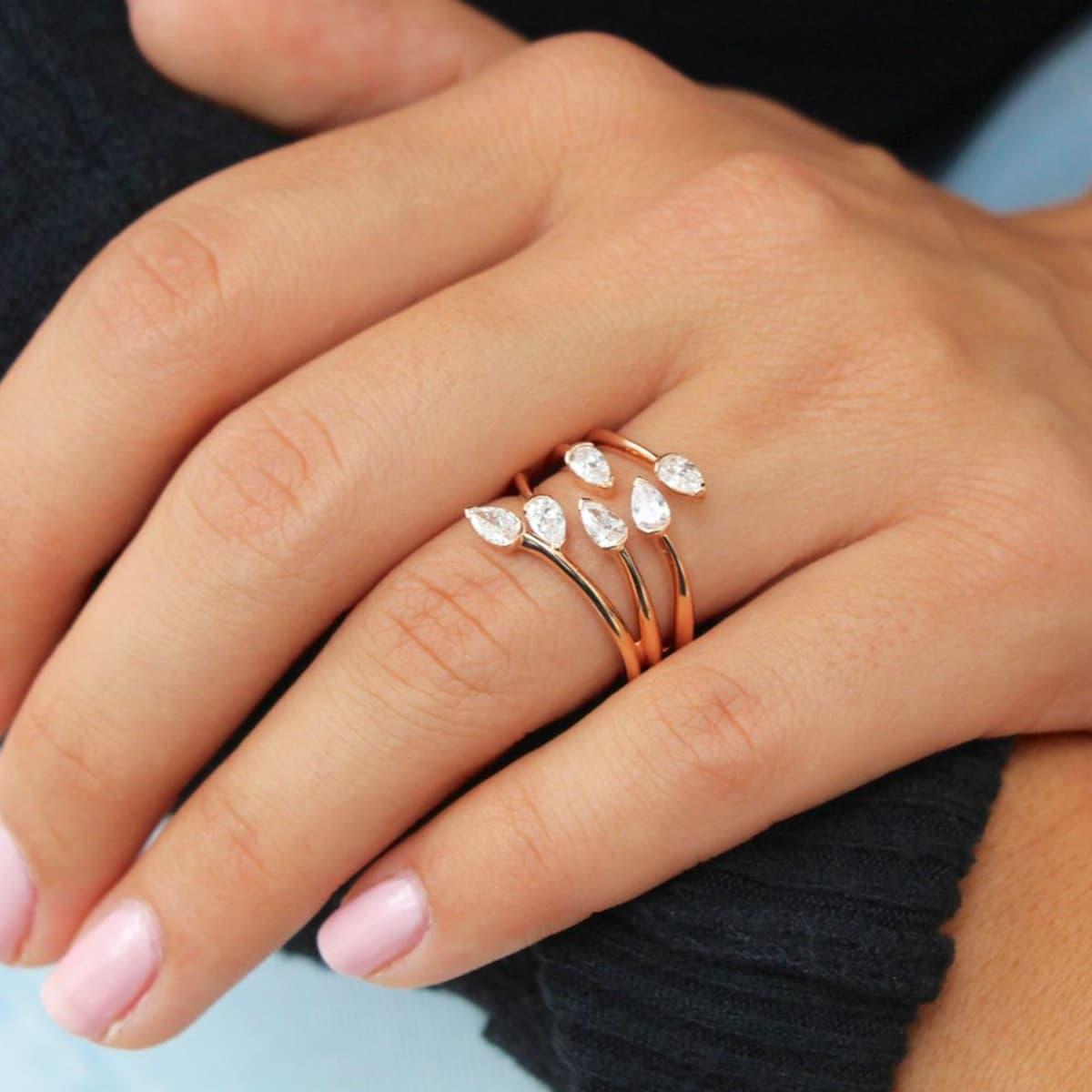 Embrace Rose Gold Diamond Ring