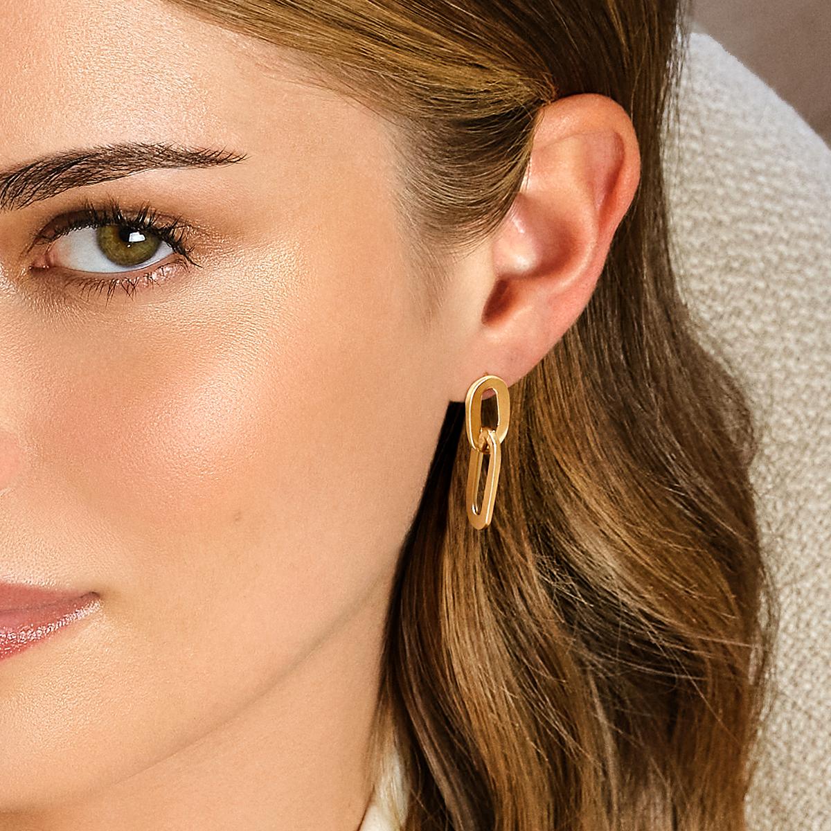 Giallo Yellow Gold Earrings