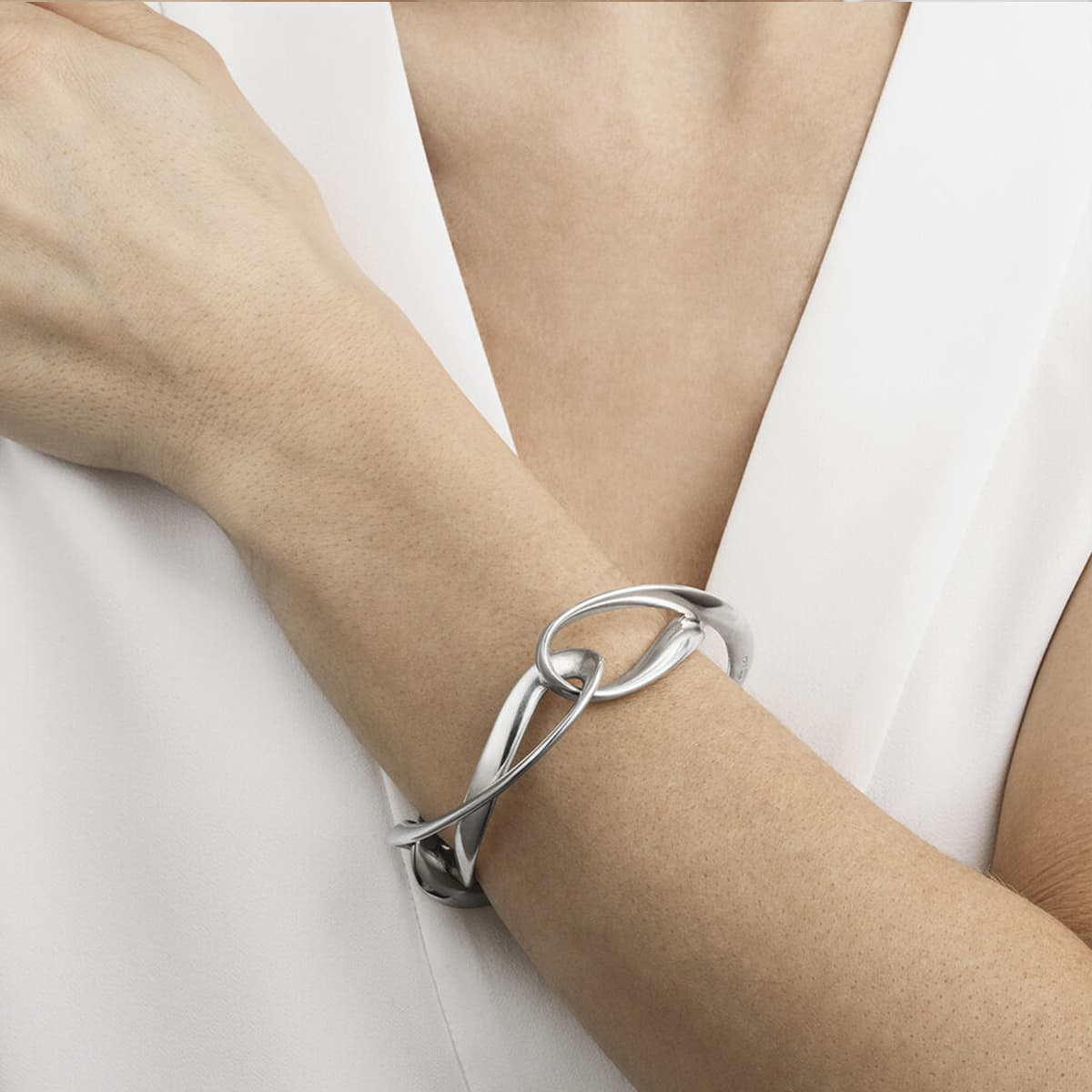 Infinity Sterling Silver Bangle