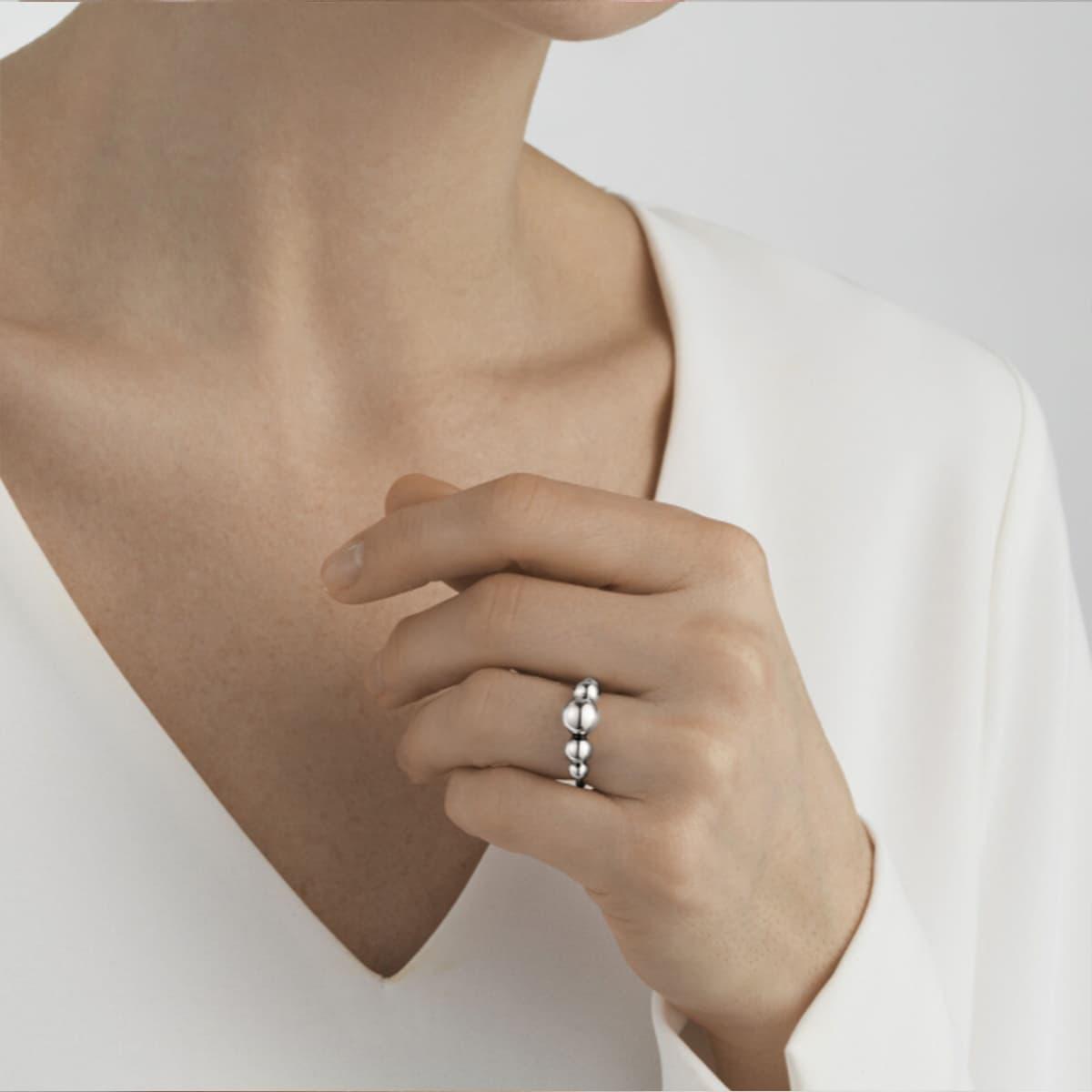 Moonlight Grapes Sterling Silver Ring