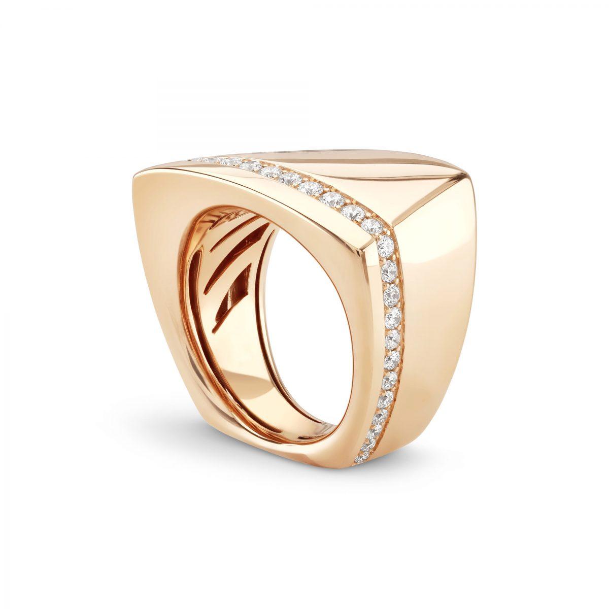 Cleo 'Strike' Rose Gold Diamond Ring