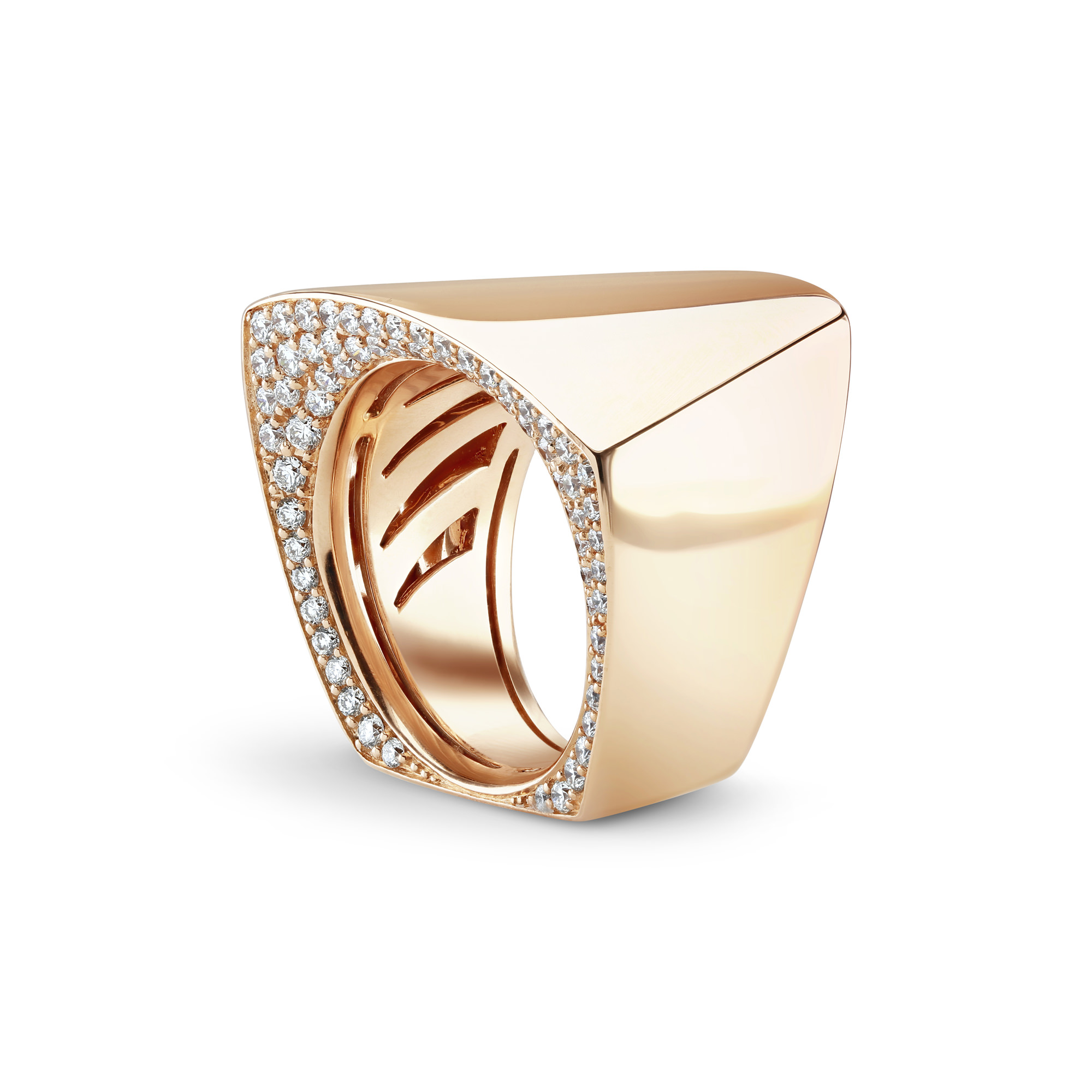 Cleo 'Secret' Rose Gold Diamond Ring