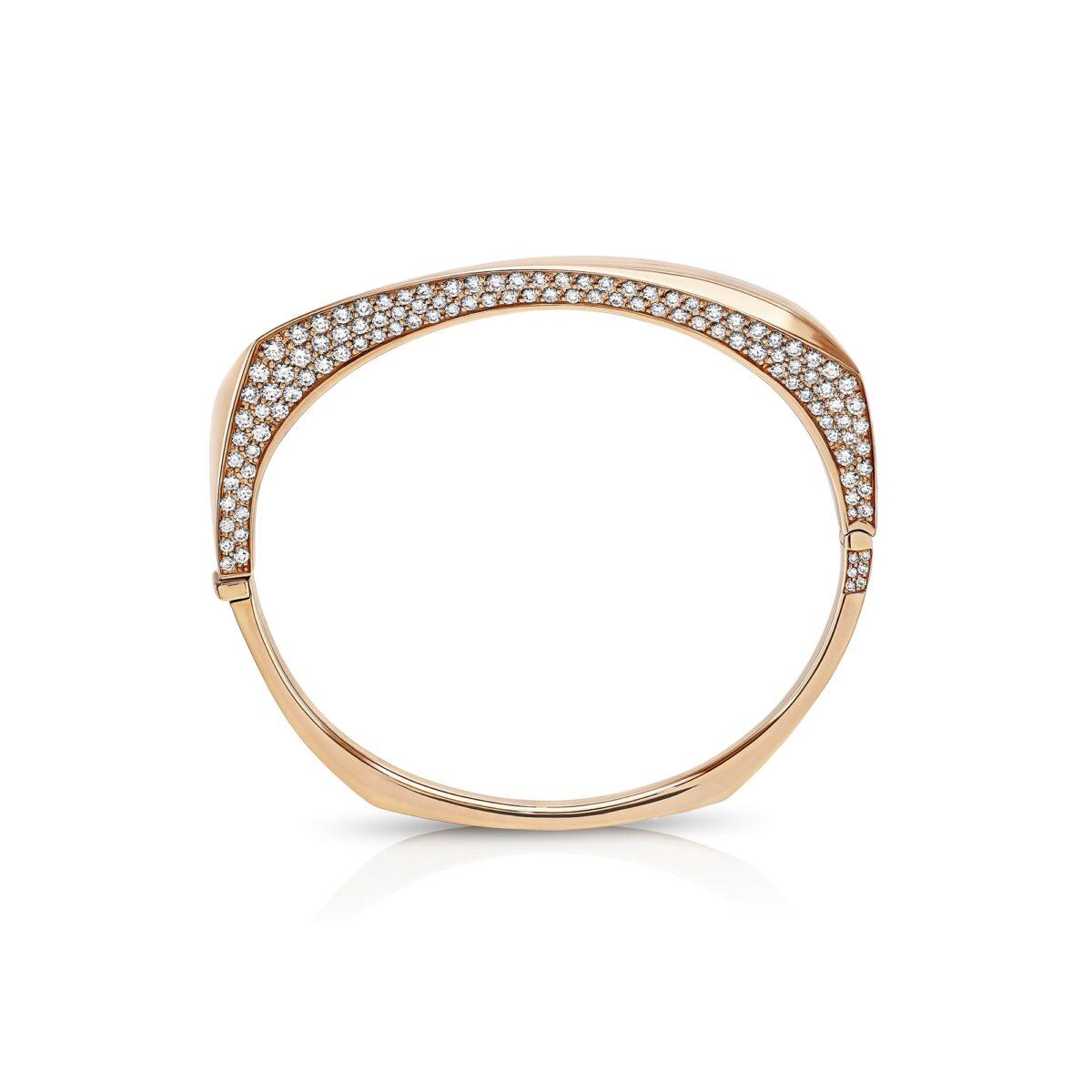 Cleo Rose Gold 'Secret' Diamond Bangle