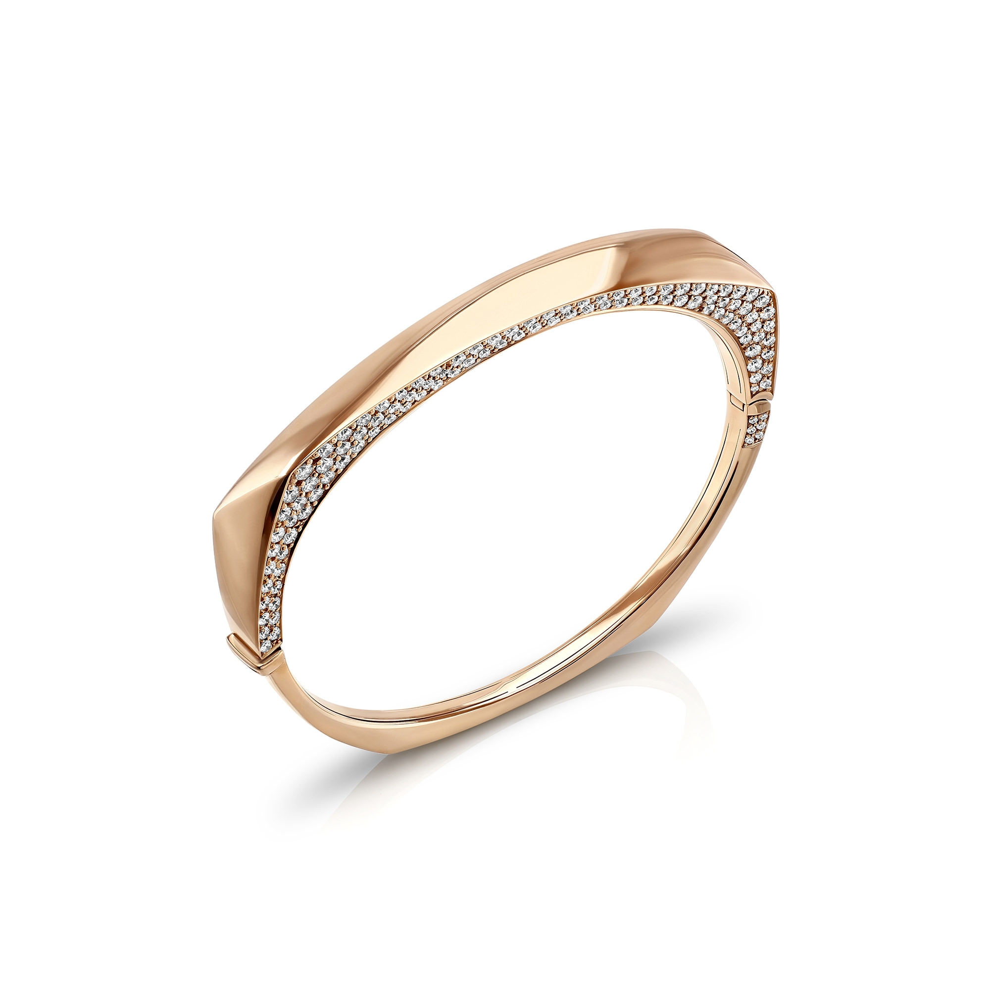 Cleo Rose Gold 'Secret' Diamond Bangle